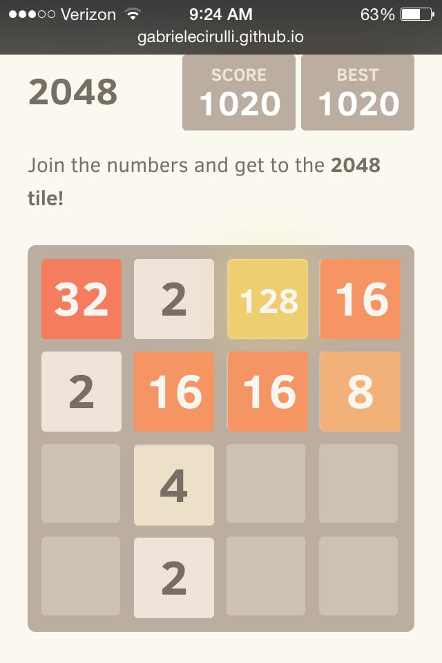 2048 how to win