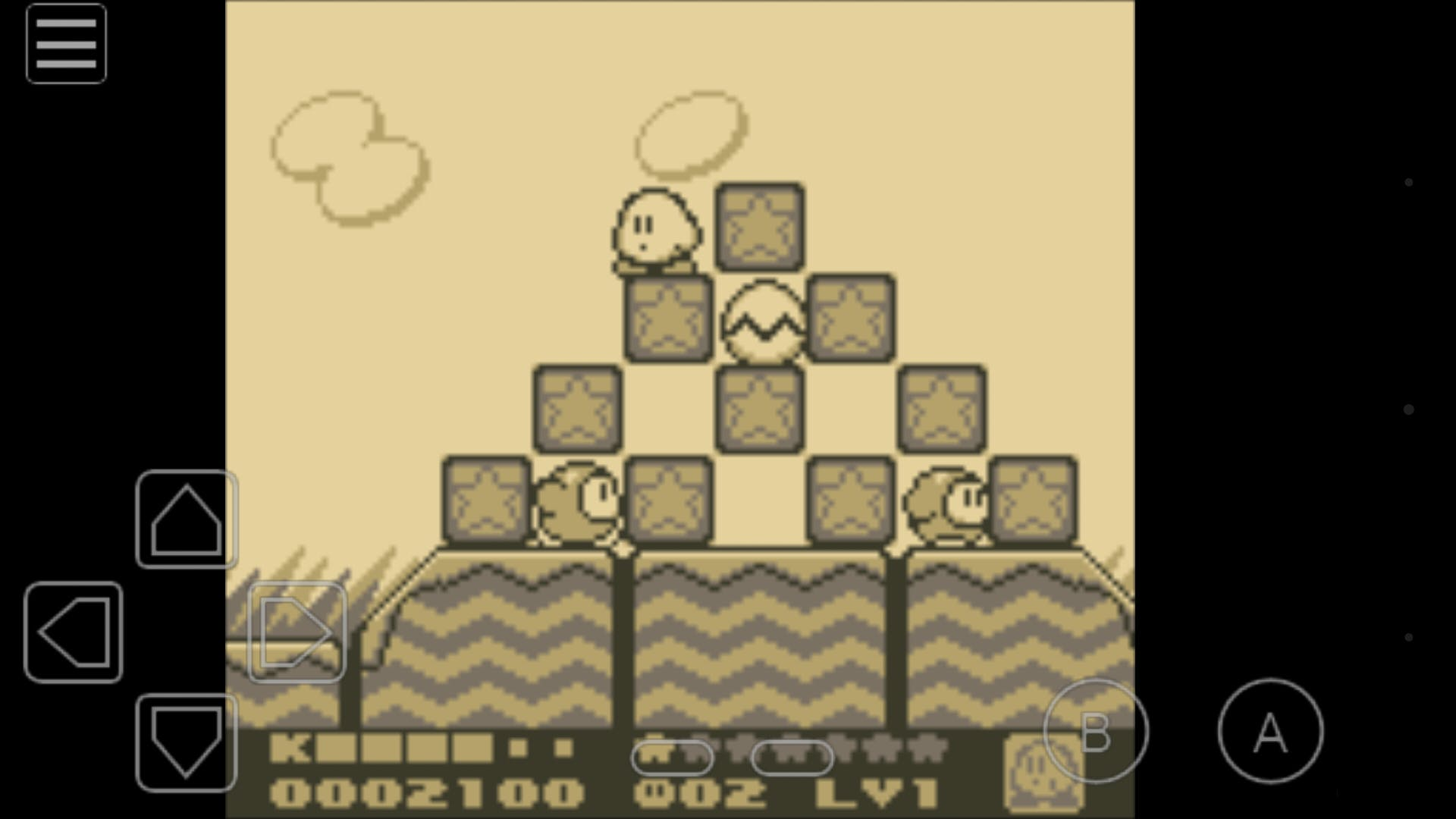 """Kirby's Dream Land 2"" emulated on My OldBoy!"