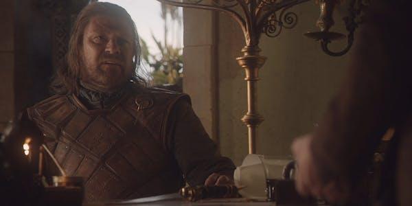 Eddard Stark and Littlefinger talk treason