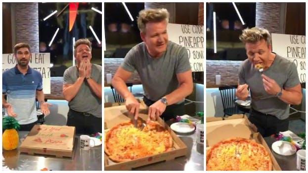 Gordon Ramsay pineapple pizza