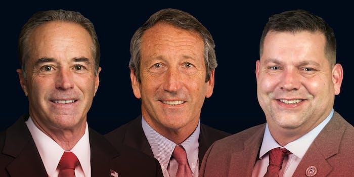 US Reps. Chris Collins, Mark Sanford, and Tom Garrett