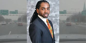 D.C. councilmemember Trayon White alongside video stills where he alleged that Jewish people are controlling the weather.