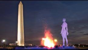 nude statue on mall mockup