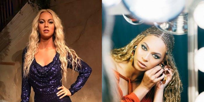 Beyoncé and her wax figure