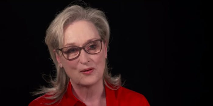 Meryl Streep says she wants to hear from Melania and Ivanka Trump speak about the #MeToo movement.