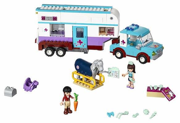 lego for girls : Lego Friends Horse Vet Trailer