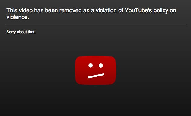 youtube removed