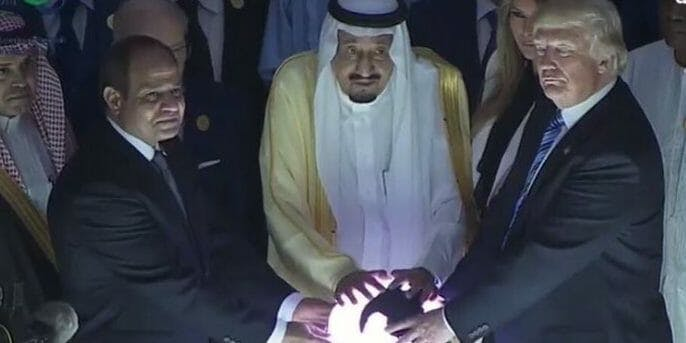 funny memes 2017: trump touches glowing orb