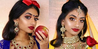 Makeup Artist Hamel Patel recreates the looks of Disney Princesses with Desi influences