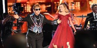 Miley Cyrus and Elton John