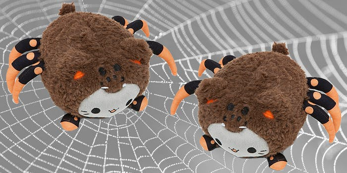 spider meowchi plush