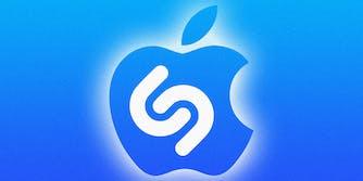 Apple and Shazam logo mashup