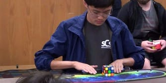 rubiks cube record