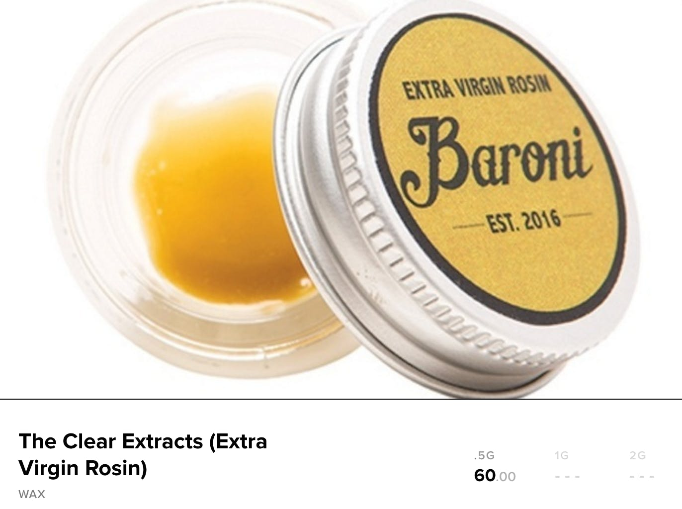 How much does a gram of weed cost : rosin