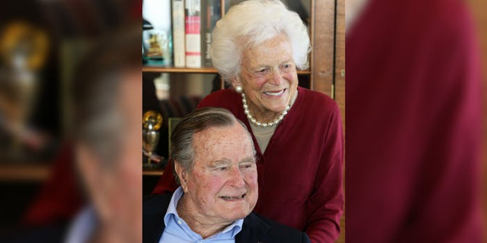 George HW Bush and Barbara Bush