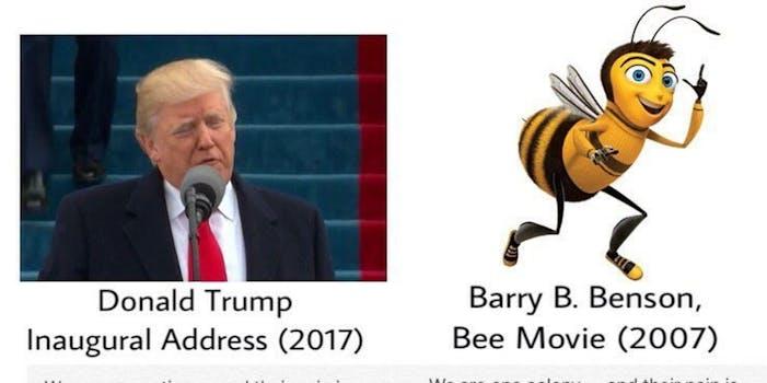 Trump Bee Movie tweet