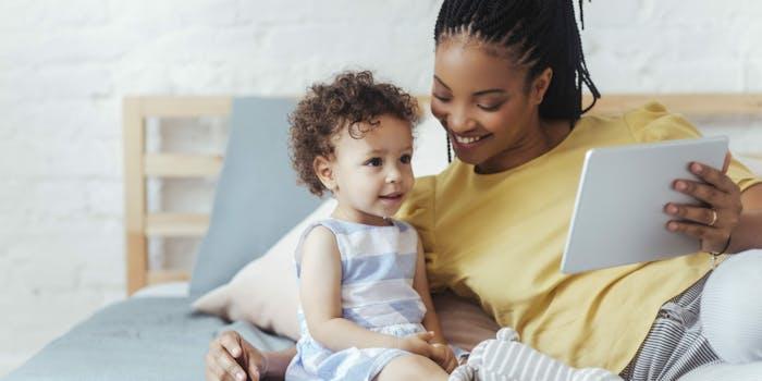black mom motherhood baby