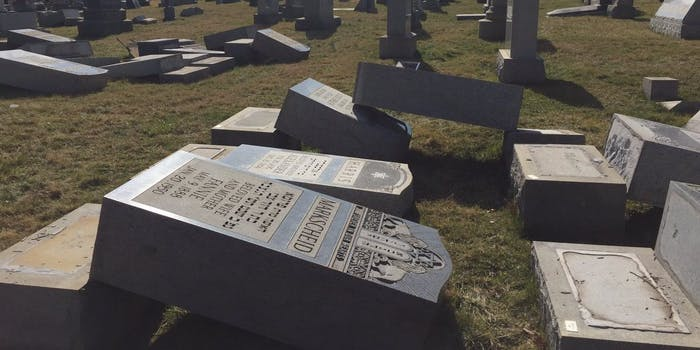 More than 100 grave markers were vandalized in Jewish cemetery in Philadelphia.