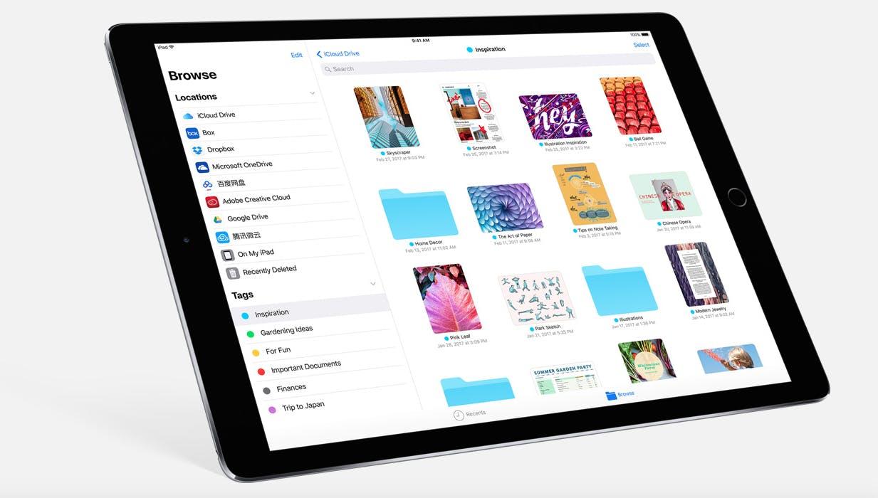best ios 11 features: Files App on iPad