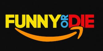 Amazon and Funny or Die logo mashup