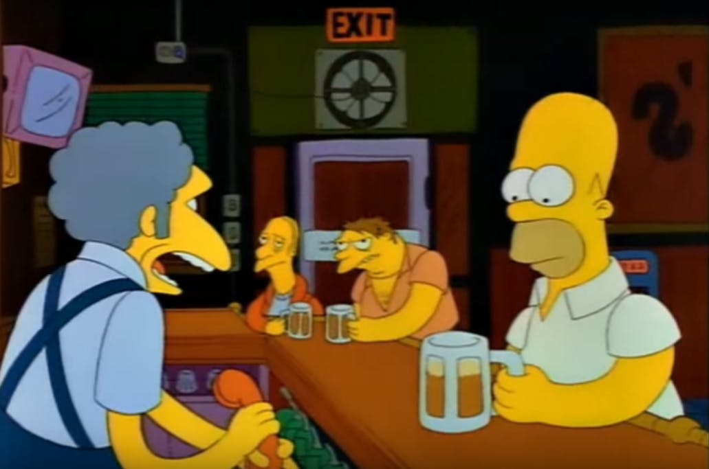 Moe answers phone