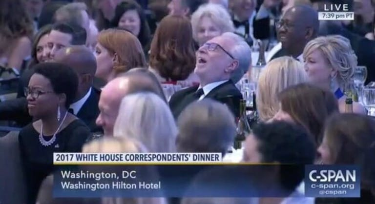 Wolf Blitzer laughing White House Correspondents Dinner