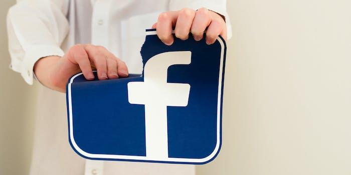 facebook logo tear social media