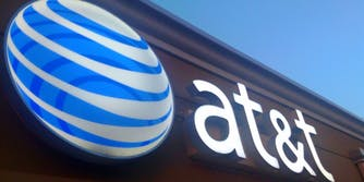 AT&T sign