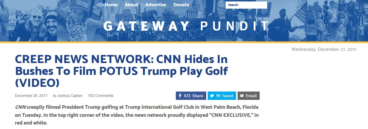 Right-wing supporters of Donald Trump swiftly defended him after CNN captured the president golfing on video after he said he would go 'back to work' on Tuesday.