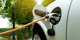 electric car charging port