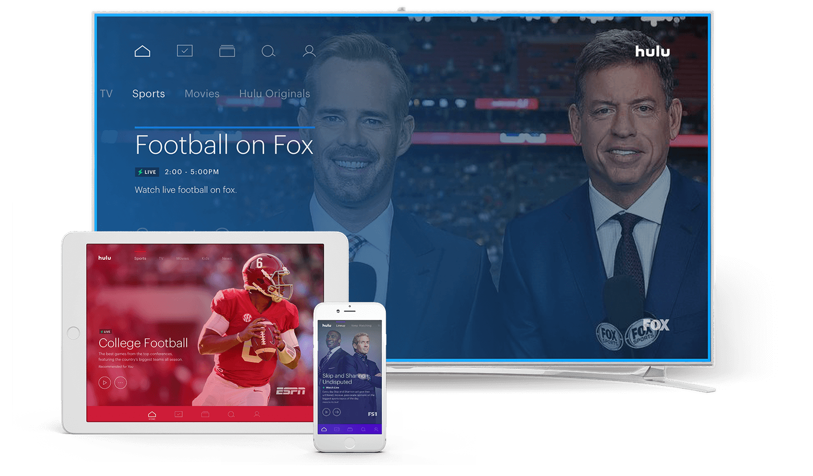 live tv streaming : Hulu with Live TV