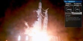 spacex paz falcon 9 rocket