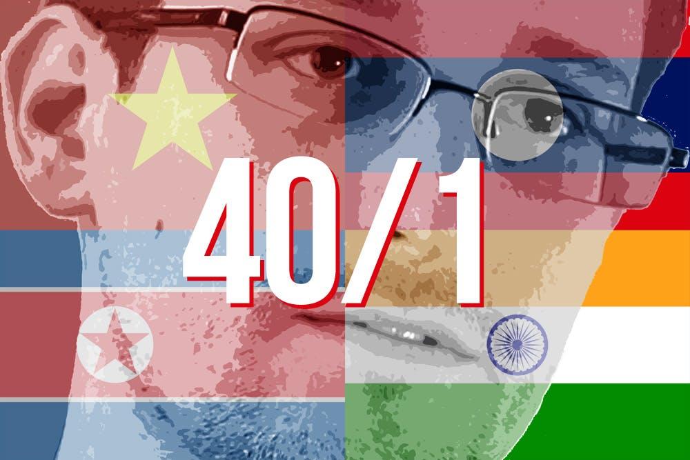 Edward Snowden: Vietnam, India, Laos, North Korea