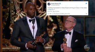 Kobe Bryant won an Oscar for his short animated film 'Dear Basketball.'