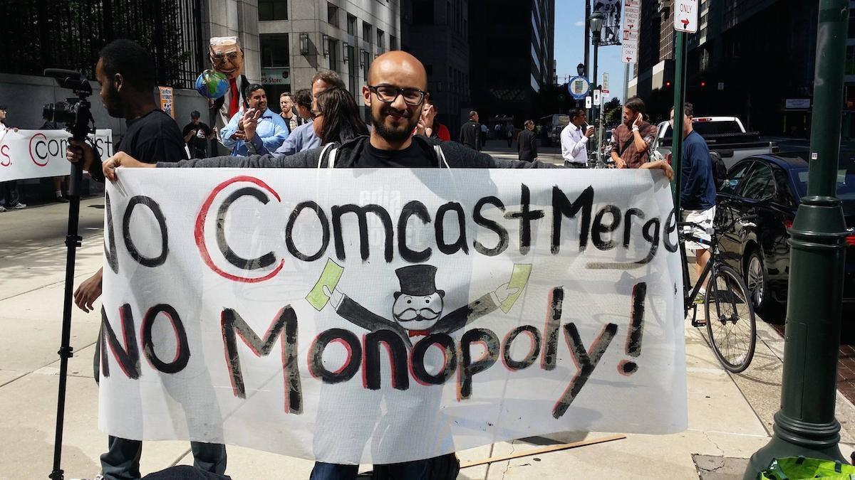 Comcast rally Philadelphia
