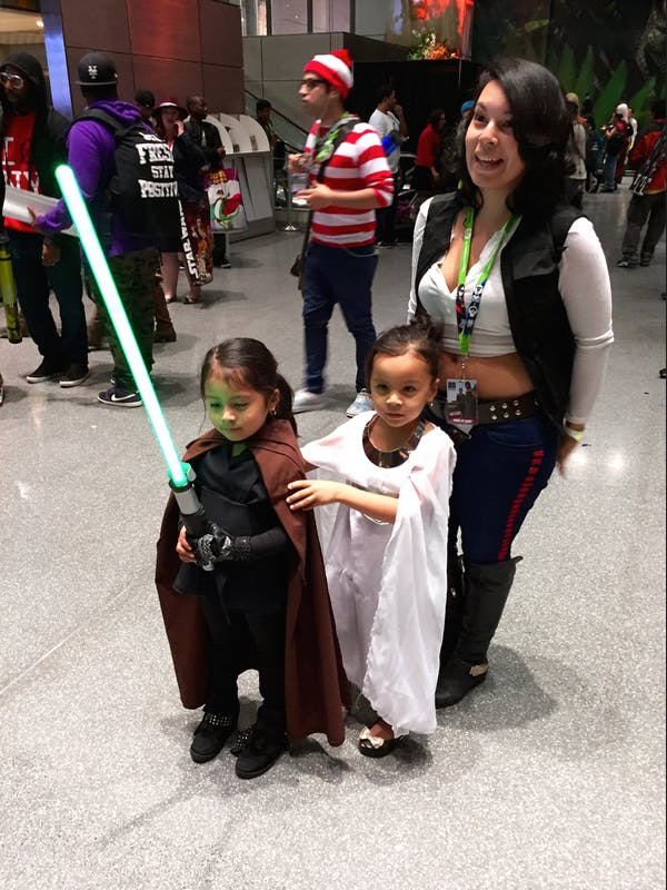 A family of 'Star Wars' cosplayers