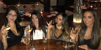 jersey shore reunion taping: photo of jwoww and snooki