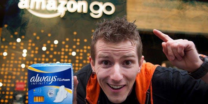 Linus Sebastian at Amazon Go
