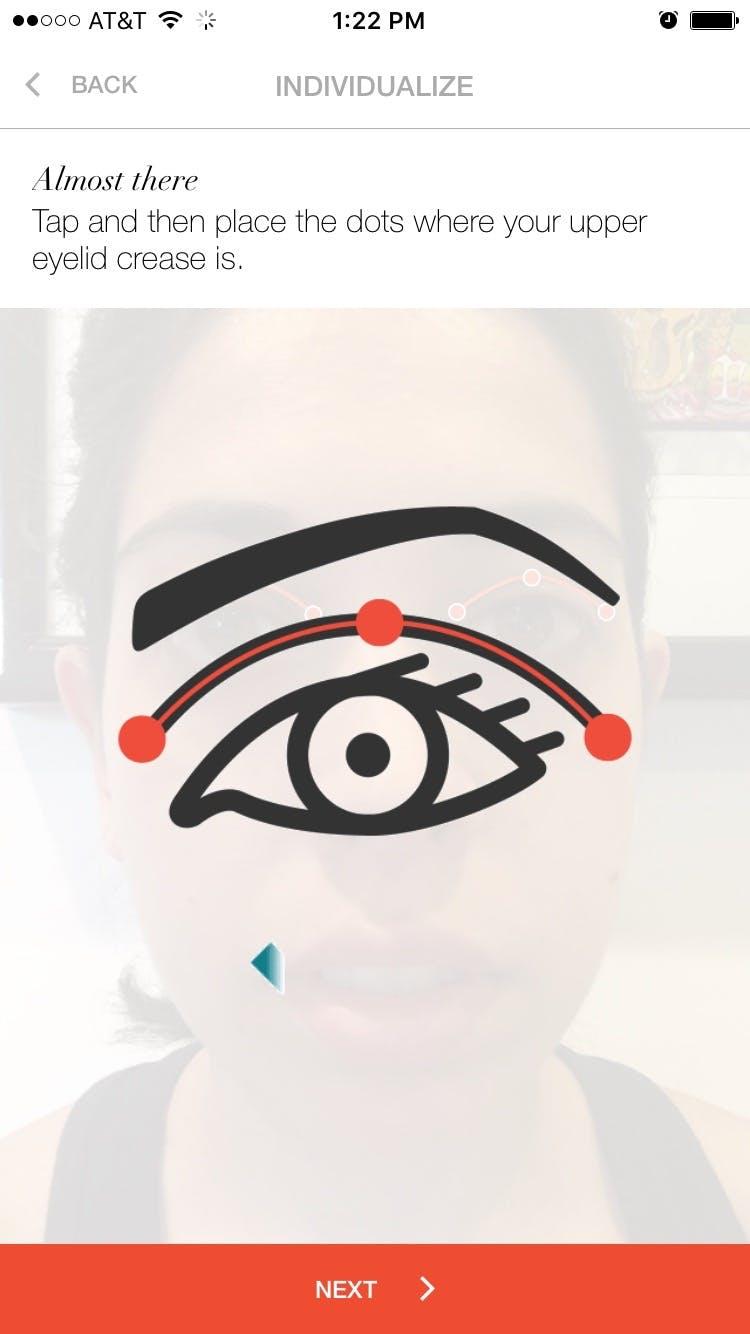 Mapping my eye.