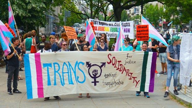 what does transgender mean: transgender solidarity transphobia protest
