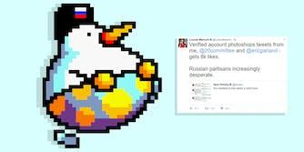 Leon Chang: Huffin Puffin avatar wearing Russian flag ushanka