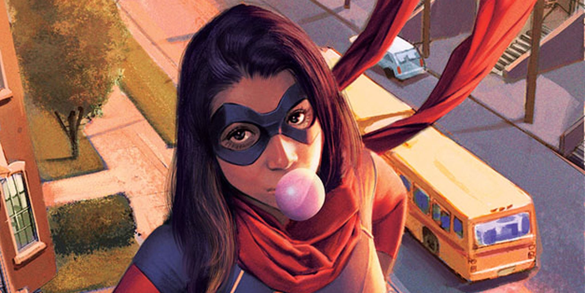 black female superhero women : Kamala Khan aka Ms Marvel