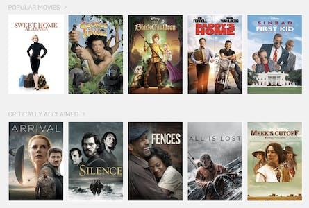 menu of one of the best movie streaming sites hulu