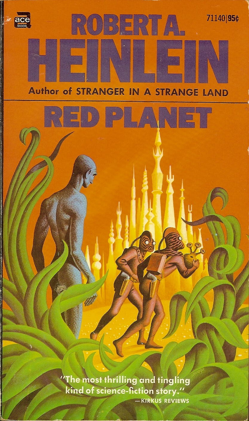 Art by Steele Savage for the 1971 edition of Heinlein's Red Planet