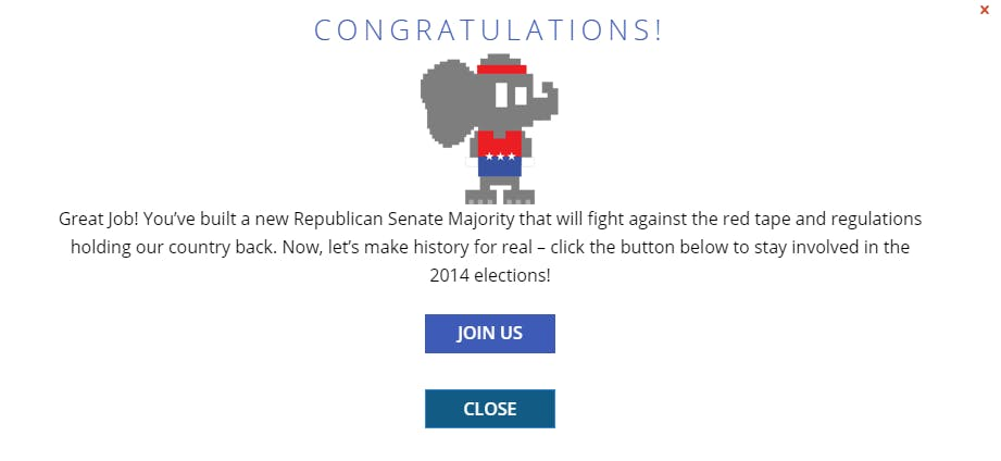 Mission Majority congrats
