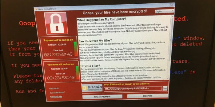 malware u.k. hospitals