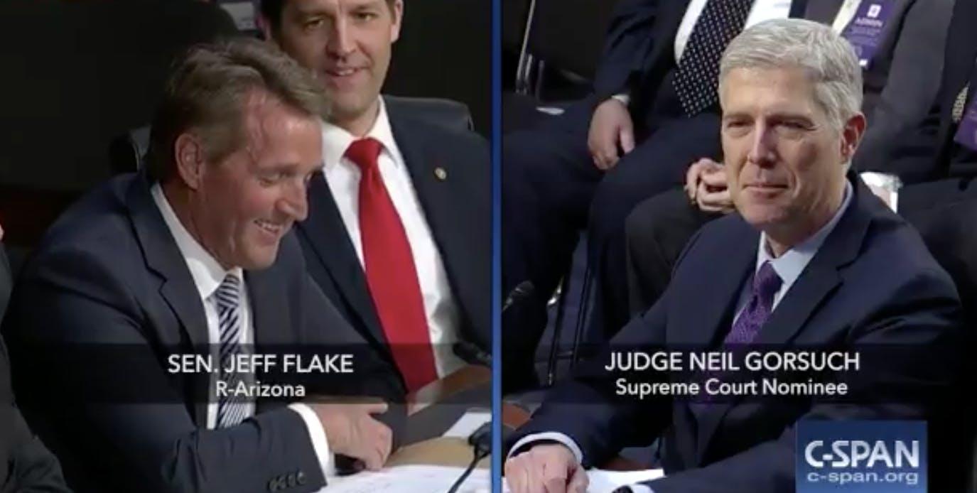 neil gorsuch reddit: scotus nominee gets reddit question from Jeff Flake