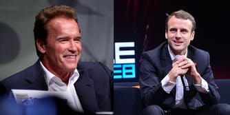 Arnold Schwarzenegger and Emmanuel Macron trolled Trump on his climate decisions.