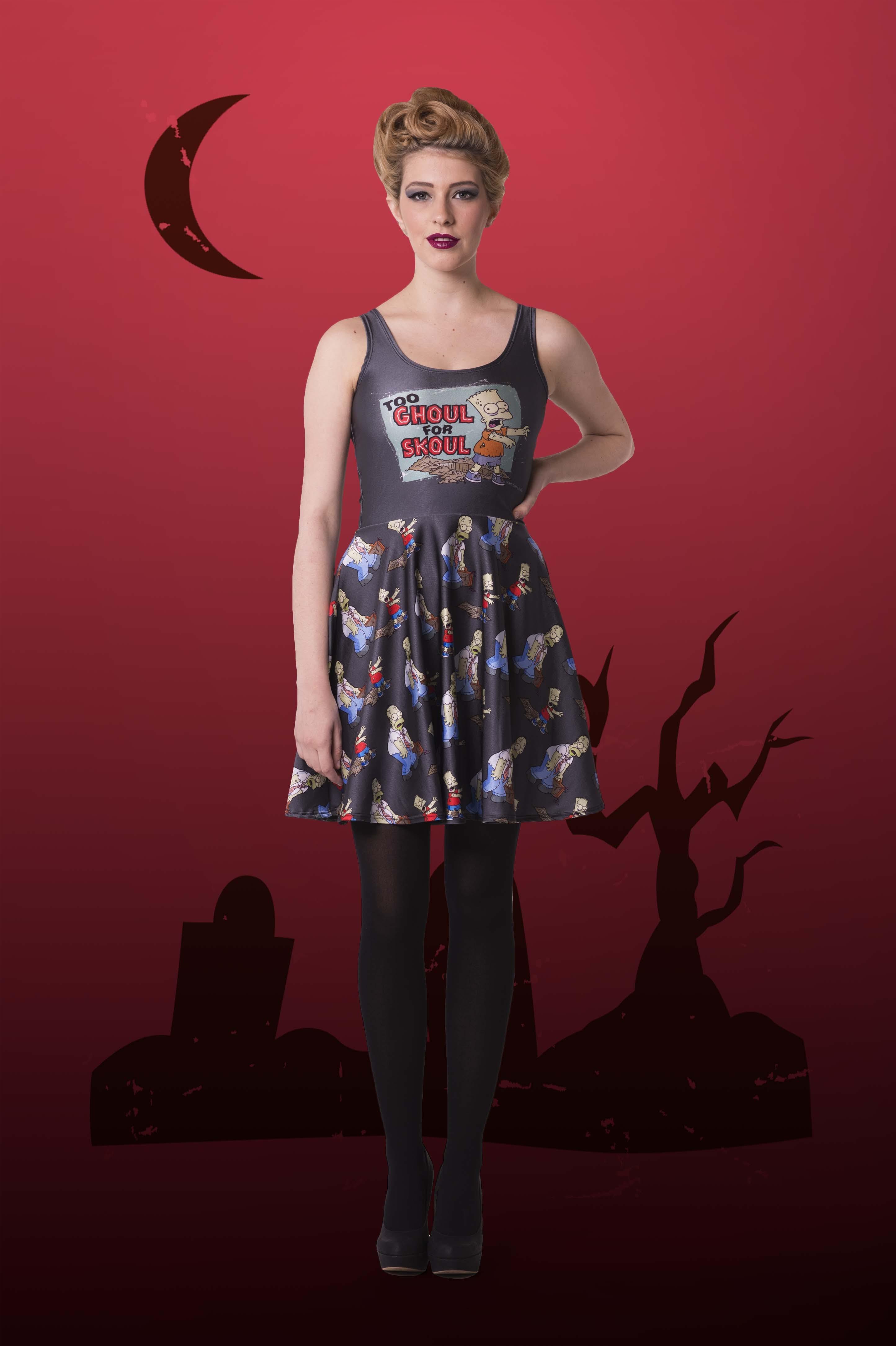 Too Ghoul For Skoul Skater Dress