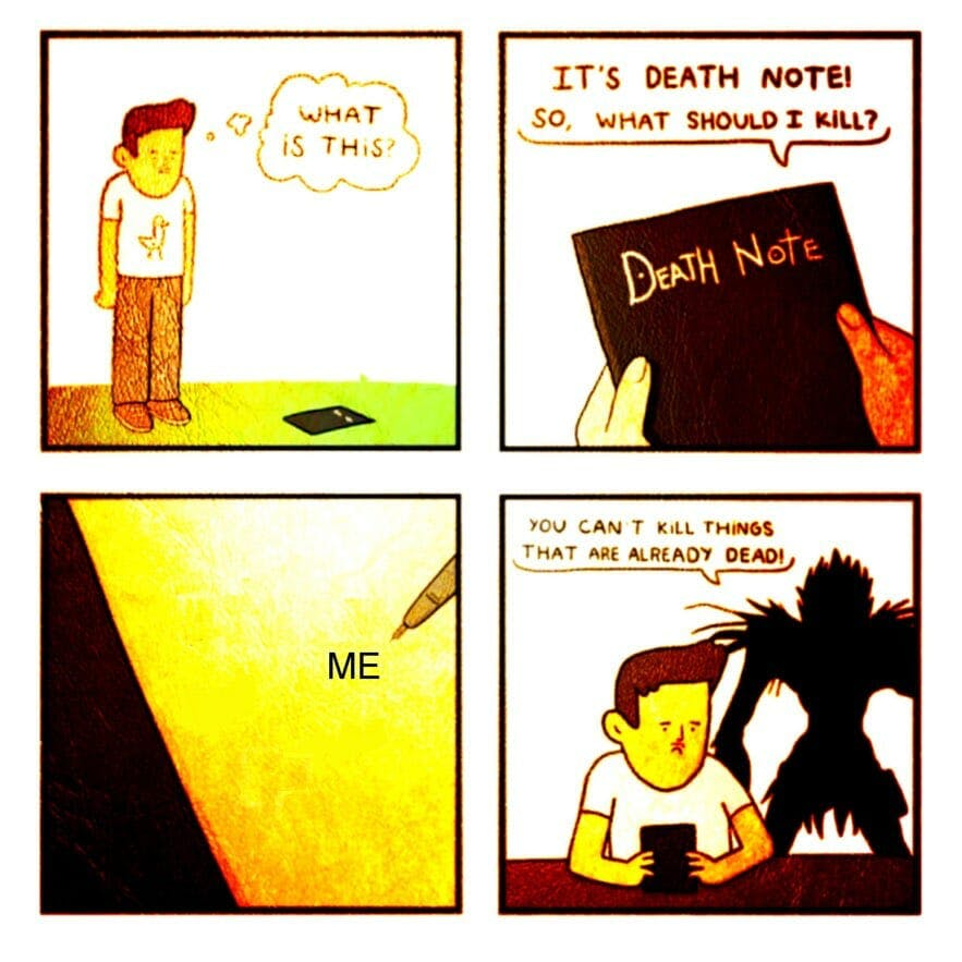 death note meme you are already dead